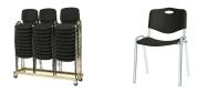 Stabelstole Luxus plast, med plast sæde og ryg