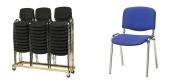 Stabelstole Øko polster med blå stof