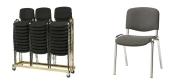 Stabelstole Øko polster med mørkegrå stof