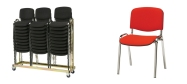Stabelstole Øko polster med rød stof