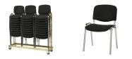 Stabelstole Øko polster med sort stof